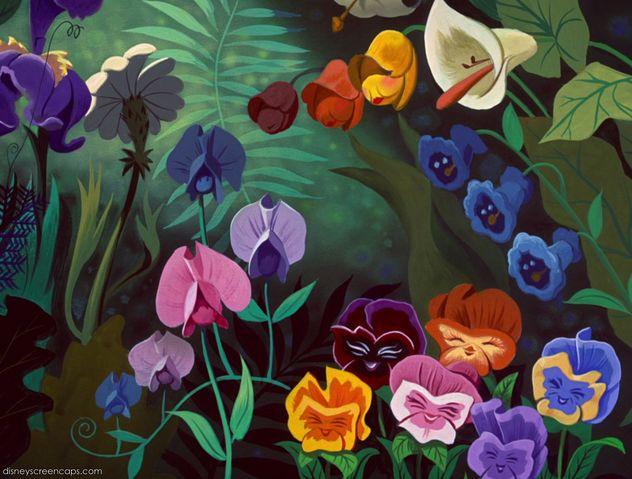 Alice Wonderland Golden Afternoon Flowers